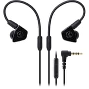 Audio-Technica ATH-LS50iS In-Ear Headphones with In-line Mic & Control (ATH-LS50ISBK)