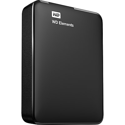 2TB WD Elements USB 3.0 high-capacity portable hard drive for Windows