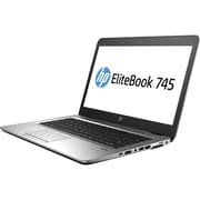 "HP EliteBook 745 G4, 14"" Laptop Computer, AMD A-Series A12-9800B, 256 GB SSD, 8GB, Windows 10 Pro, AMD Radeon R7 (1FX55UT#ABA)"