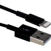 QVS 3ft Apple Lightning to USB Sync & Charge MFi Certified for iPhone, iPad and iPod