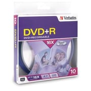 Verbatim AZO DVD+R 4.7GB 16X with Branded Surface, 10pk Spindle Box