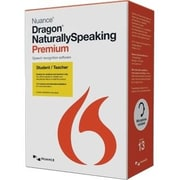 Nuance Dragon NaturallySpeaking v.13.0 Premium Student & Teacher Edition, Box Pack, 1 User, Academic, Online Validation (French)