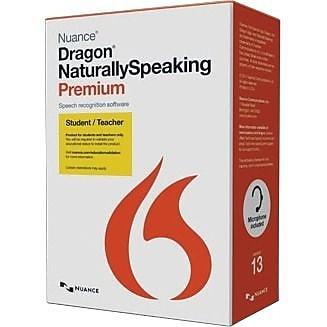 Nuance Dragon NaturallySpeaking v.13.0 Premium Student & Teacher Edition, Box Pack, 1 User, Academic, Online Validation (French)