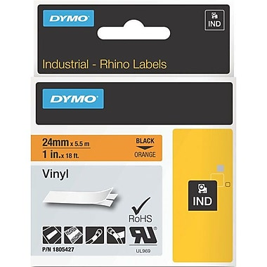 Dymo Black on Orange Color Coded Label (1805427)