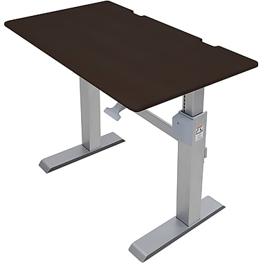 Ergotron WorkFit-DL 48, Sit-Stand Desk (Wenge)