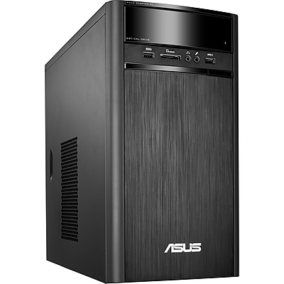 Asus VivoPC K31CD-DS71 Desktop Computer, Intel Core i7 i7-7700 3.60GHz, 16GB DDR4 SDRAM, 2 TB HDD, Windows 10 Home 64-bit, Tower