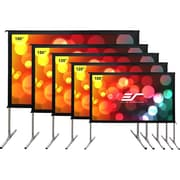 """Elite Screens Yard Master 2 Dual OMS120H2-DUAL Projection Screen, 120"""", 16:9, Surface Mount"""
