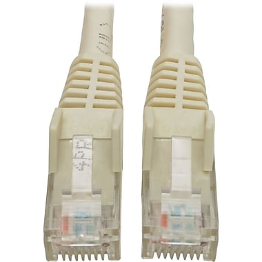 Tripp Lite 6ft Cat6 Snagless Molded Patch Cable UTP White RJ45 M/M 6' (12582335)