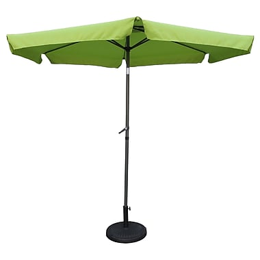 Brayden Studio 9' Hyperion Drape Umbrella; Grass Green
