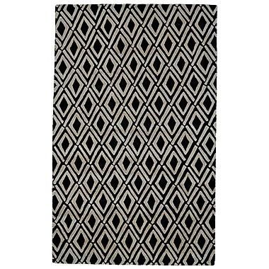 Brayden Studio Milano Gray/Black Area Rug; 9'6'' x 13'6''