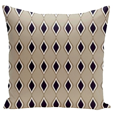 Brayden Studio Mercier Euro Pillow; Oatmeal/Flax/Navy