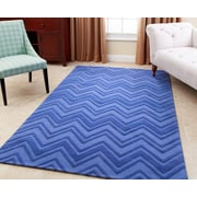 Brayden Studio Karcher Hand-Tufted Blue Area Rug; 5' x 8'