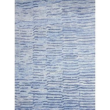 Brayden Studio Nyssa Hand-Tufted Lapis Area Rug; 7'9'' x 9'9''