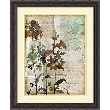 Brayden Studio Music Box Floral I Framed Painting Print