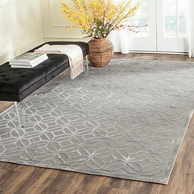 Brayden Studio Sophocles Hand-Knotted Slate Area Rug; 6' x 9'