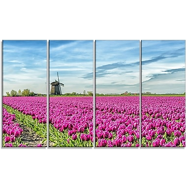 DesignArt 'Traditional Holland Countryside' Photographic Print Multi-Piece Image on Canvas