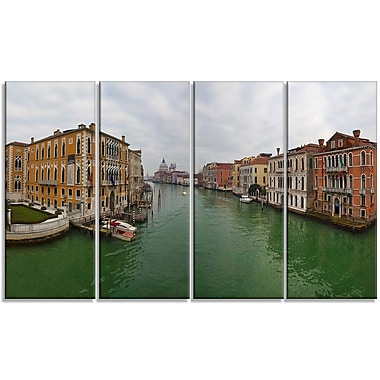 DesignArt 'Green Waters in Venice Grand Canal' Photographic Print Multi-Piece Image on Canvas