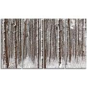 DesignArt 'Dense Pine Forest in Winter' Photographic Print Multi-Piece Image on Canvas