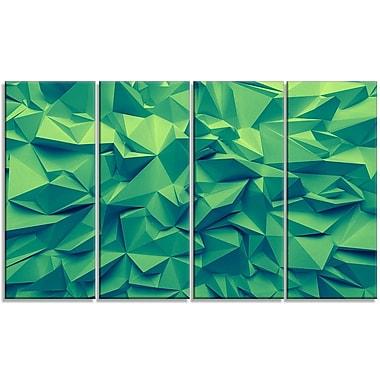 DesignArt 'Trendy Emerald Green Background' Graphic Art Print Multi-Piece Image on Canvas
