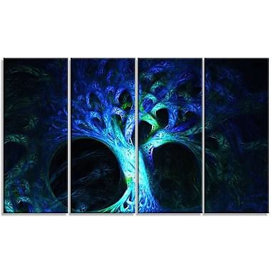 DesignArt 'Magical Blue Psychedelic Tree' Graphic Art Print Multi-Piece Image on Canvas