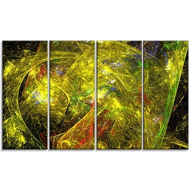 DesignArt 'Golden Mystic Psychedelic Texture' Graphic Art Print Multi-Piece Image on Canvas