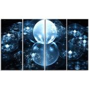 DesignArt 'Blue Water Drops on Mirror' Graphic Art Print Multi-Piece Image on Canvas