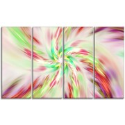 DesignArt 'Exotic Multi-Color Spiral Flower' Graphic Art Print Multi-Piece Image on Canvas
