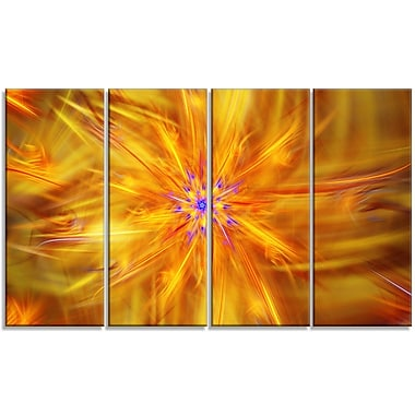 DesignArt 'Glowing Brightest Star Exotic Flower' Graphic Art Print Multi-Piece Image on Canvas