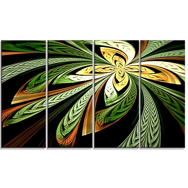 DesignArt 'Colorful Fractal Flower' Graphic Art Print Multi-Piece Image on Canvas
