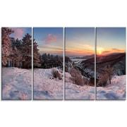 DesignArt 'Slovakia Panorama at Winter' Photographic Print Multi-Piece Image on Canvas