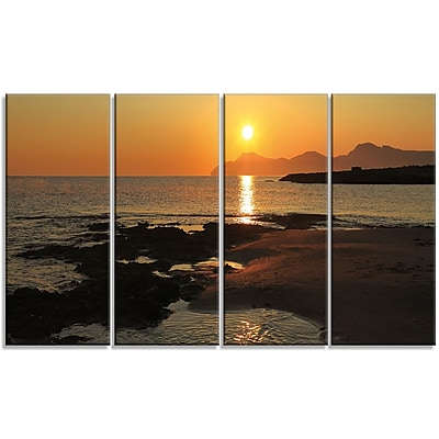 DesignArt 'Dawn on Majorca Panorama' Photographic Print Multi-Piece Image on Canvas