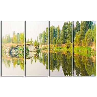 DesignArt 'River and Forest Panorama' Photographic Print Multi-Piece Image on Canvas
