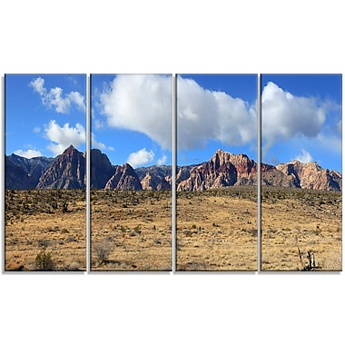 DesignArt 'Red Rock Canyon Landscape' Photographic Print Multi-Piece Image on Canvas