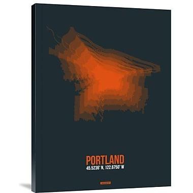 Naxart 'Portland Radiant Map 3' Graphic Art Print on Canvas; 16'' H x 12'' W x 1.5'' D