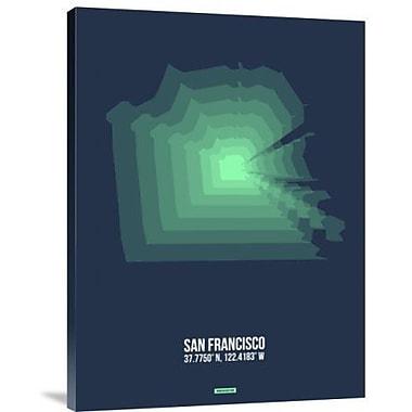 Naxart 'San Francisco Radiant Map 2' Graphic Art Print on Canvas; 40'' H x 30'' W x 1.5'' D