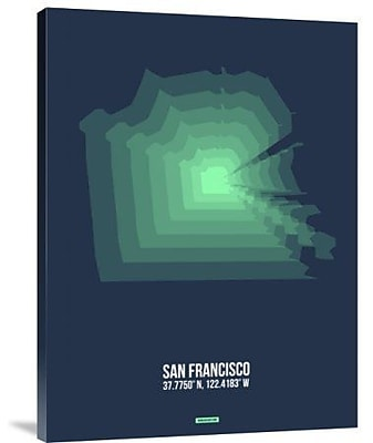 Naxart 'San Francisco Radiant Map 2' Graphic Art Print on Canvas; 24'' H x 18'' W x 1.5'' D