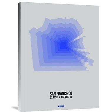Naxart 'San Francisco Radiant Map 3' Graphic Art Print on Canvas; 40'' H x 30'' W x 1.5'' D