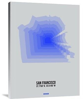 Naxart 'San Francisco Radiant Map 3' Graphic Art Print on Canvas; 32'' H x 24'' W x 1.5'' D