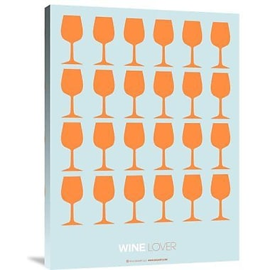 Naxart 'Wine Lover Orange' Graphic Art Print on Canvas; 16'' H x 12'' W x 1.5'' D