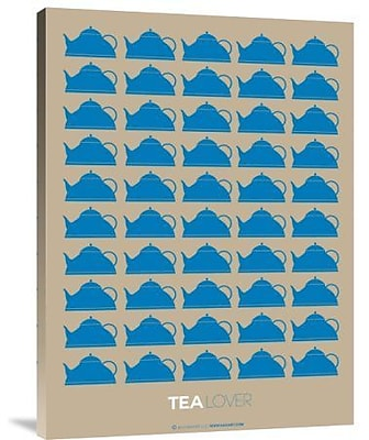 Naxart 'Tea Lover Blue' Graphic Art Print on Canvas; 24'' H x 18'' W x 1.5'' D