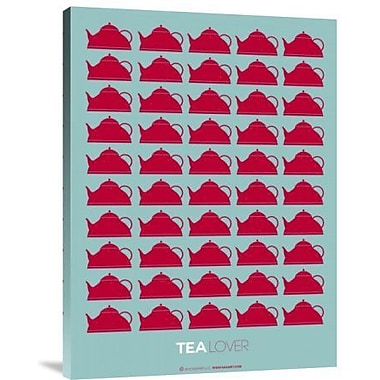 Naxart 'Tea Lover Red' Graphic Art Print on Canvas; 32'' H x 24'' W x 1.5'' D