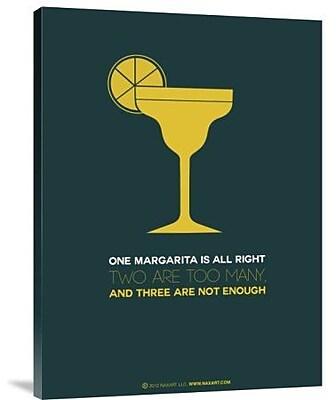 Naxart 'Yellow Margarita' Graphic Art Print on Canvas; 16'' H x 12'' W x 1.5'' D
