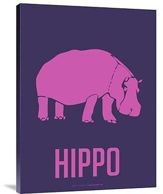Naxart 'Hippo Pink' Graphic Art Print on Canvas; 16'' H x 12'' W x 1.5'' D