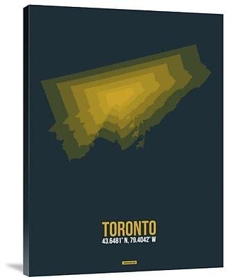 Naxart 'Toronto Radiant Map 3' Graphic Art Print on Canvas; 16'' H x 12'' W x 1.5'' D