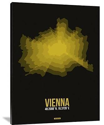 Naxart 'Vienna Radiant Map 4' Graphic Art Print on Canvas; 16'' H x 12'' W x 1.5'' D