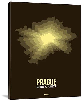 Naxart 'Prague Radiant Map 1' Graphic Art Print on Canvas; 40'' H x 30'' W x 1.5'' D