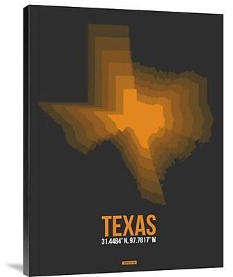 Naxart 'Texas Radiant Map 5' Graphic Art Print on Canvas; 32'' H x 24'' W x 1.5'' D