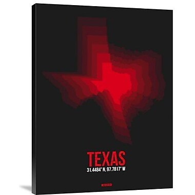 Naxart 'Texas Radiant Map 7' Graphic Art Print on Canvas; 40'' H x 30'' W x 1.5'' D