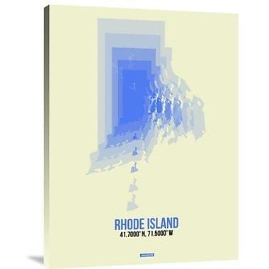Naxart 'Rhode Island Radiant Map 2' Graphic Art Print on Canvas; 32'' H x 24'' W x 1.5'' D