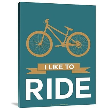 Naxart 'I Like to Ride 6' Graphic Art Print on Canvas; 16'' H x 12'' W x 1.5'' D